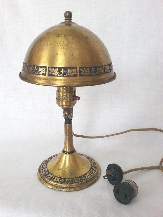 Vintage Floral Porcelain Brass Light Shade Fastener Finial Knob