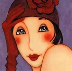 Agatha Art Print by Corinne Reignier