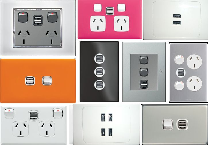 USB powerpoint options, colours to match decor, number of ports for multiple devices. Be careful of quantity vs quality. The more usb ports can result in less output. Also cheaper internet options may not have adequate surge protection. These are a mix of HPM & GSME