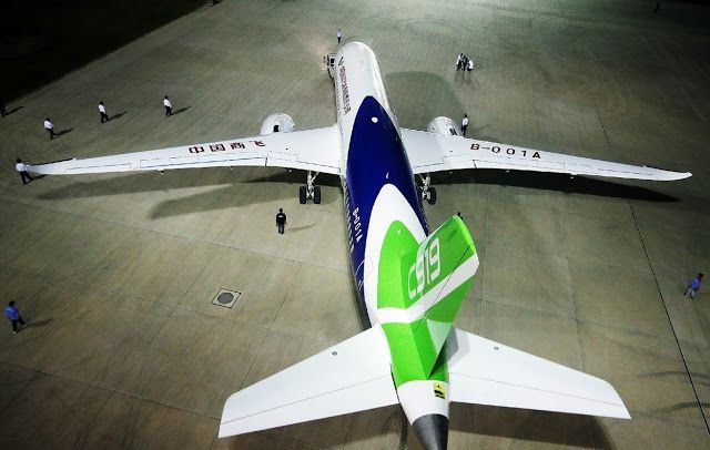 Comac C919 Chinese Passengers Aircraft First Appearance