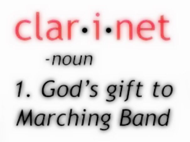 This is so true (to me at least). Go Clarinets!!