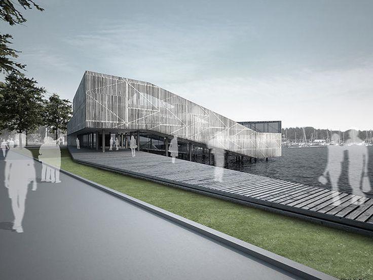 Kulturhus för folkmusik på Slottsholmen i Västervik. Öppen internationell tävling, första pris.   Arkitektur  Nikolaj Findanis…