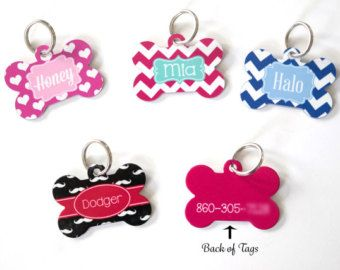 Personalized Pet Tag Personalized Dog Tag Custom por clippycabin