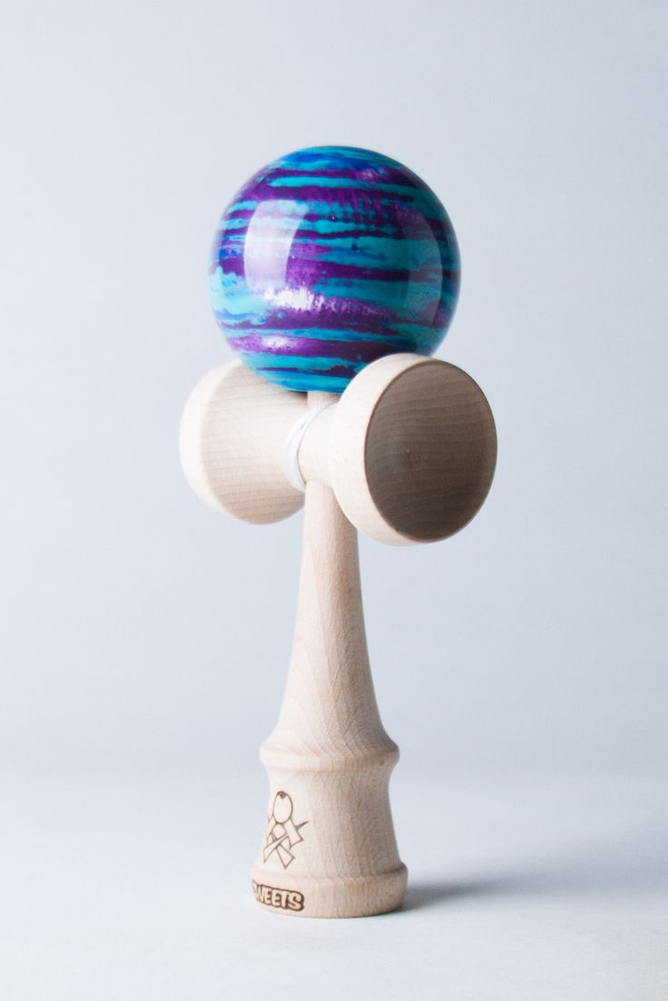 Sweets Kendama Focus Marble - Blue/Purple/Seafoam