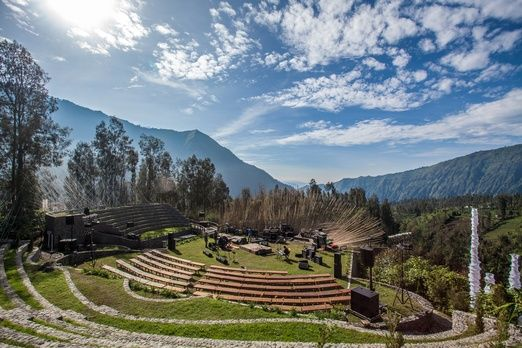 Perfect setting: The venue of Jazz Gunung is surrounded by the beauty of Bromo Tengger Semeru. (Photo courtesy of Jazz G...
