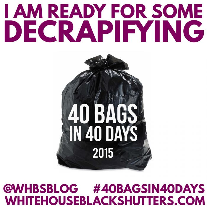 join the decluttering revolution! Challenge yourself to simplify and get rid of 40 bags in 40 days. #40bagsin40days