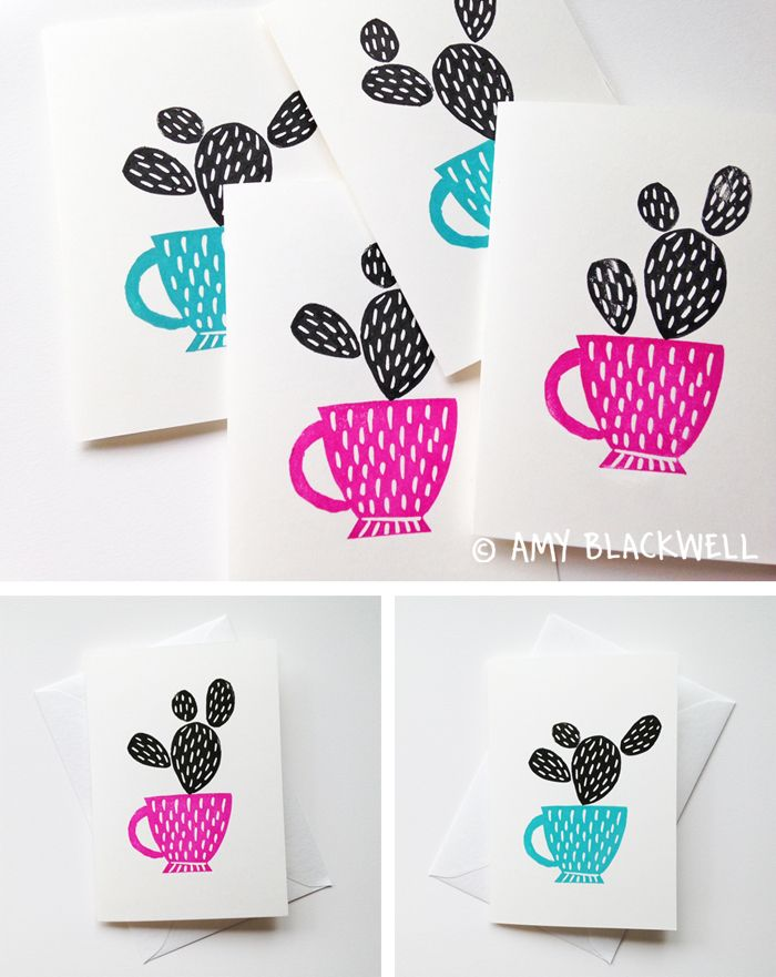 Amy Blackwell - Lino Print Cards