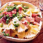 Een heerlijk recept: Nigella Lawson: pasta met ham erwtjes en room