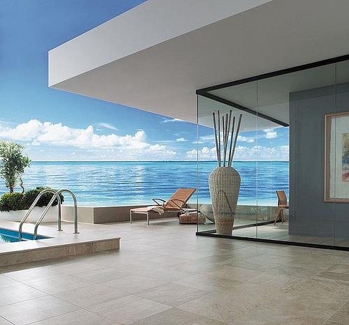 A Beautiful Beach House: Beautiful Beach House WithTerraza Veraniega Con Pavimento