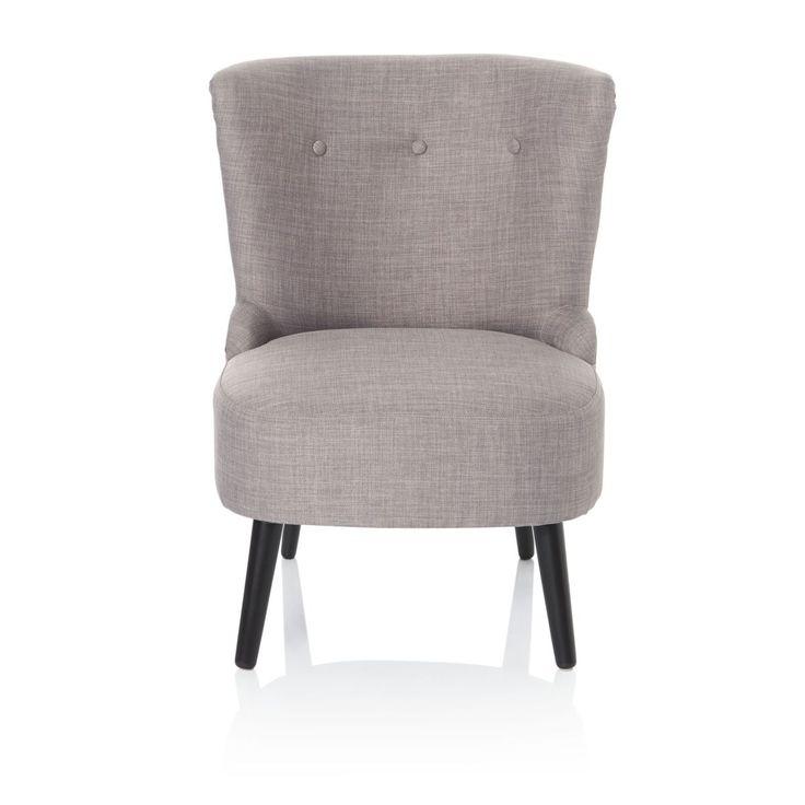 Sessel, Retro Look, Birkenholz, 100% Polyester Online Kaufen Bei