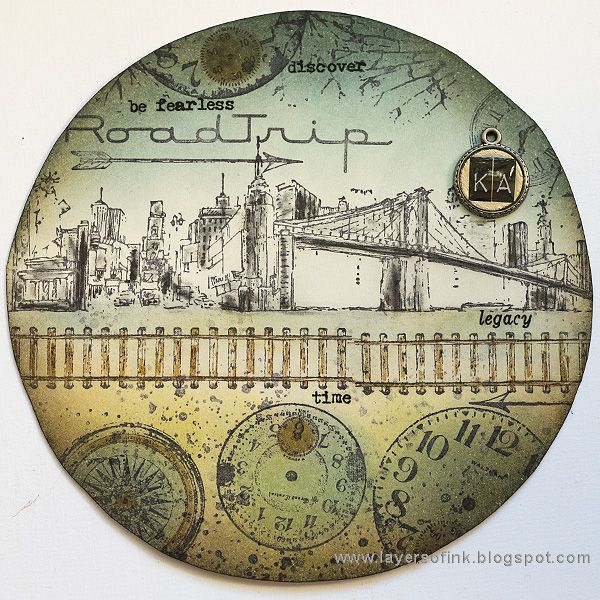 Layers of ink - Dark Tower Assemblage Clock Tutorial by Anna-Karin, inspired by Stephen Kings Dark Tower story