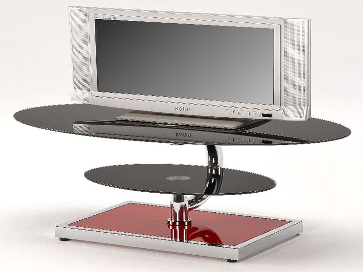 Swivel Stands for Large Screen TVs | ... :: OCCASIONAL FURNITURE :: Glass Tv Units :: Benton Swivel TV Stand