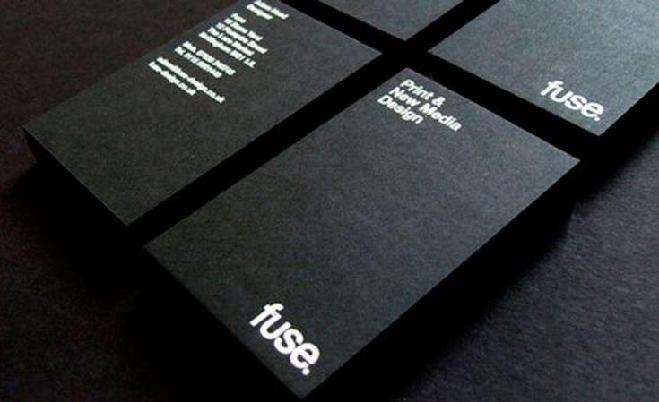 Tarjetas de visita en blanco y negro