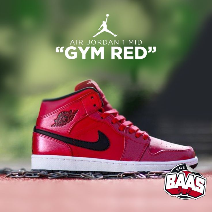 "Air Jordan 1 Mid ""Gym Red""   Fresh from jordan!   www.sneakerbaas.nl   #Air #Jordan #Fresh #Baas"