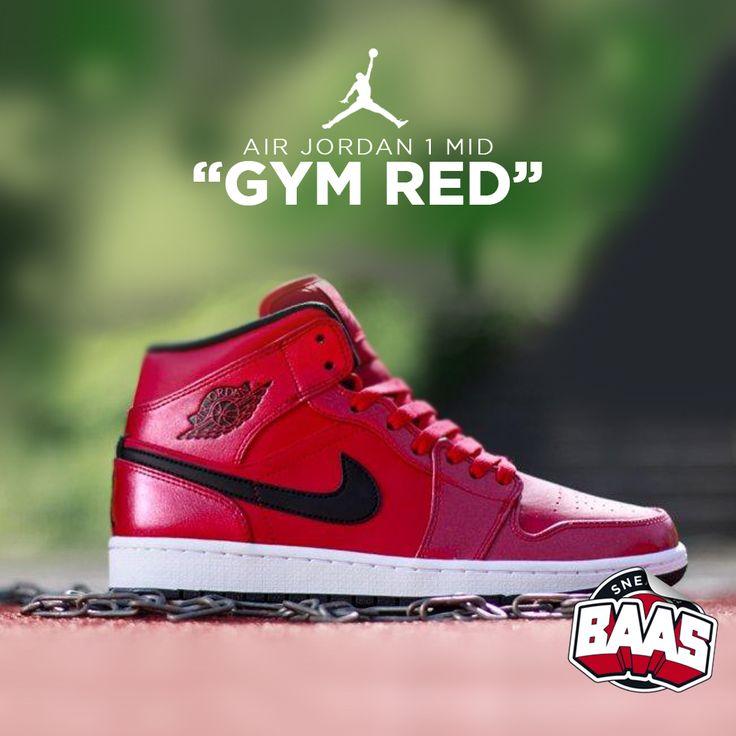 "Air Jordan 1 Mid ""Gym Red"" | Fresh from jordan! | www.sneakerbaas.nl | #Air #Jordan #Fresh #Baas"
