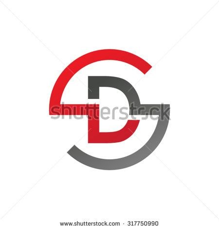 DS SD initial company circle S logo red