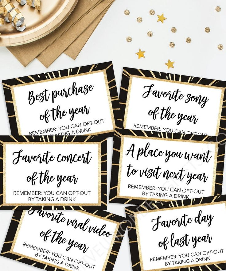 New Years Eve Party Games Best Memories of 2018 Printable