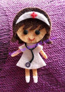 Broche de fieltro enfermera4