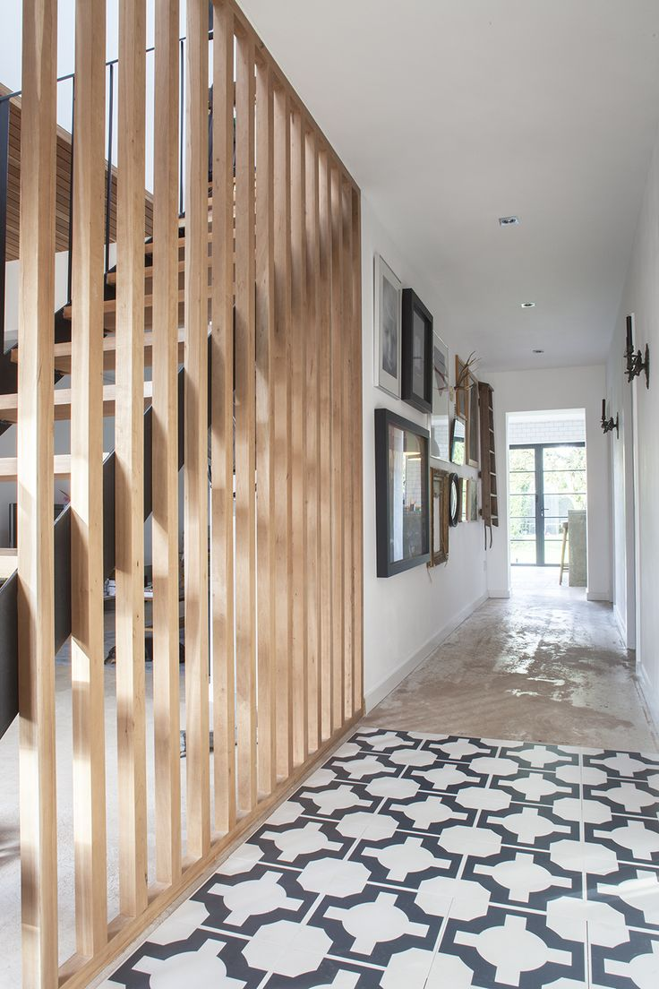 Stairs and Tiled Floor - A One Bed 1930's Bungalow Renovation To A Modern Family Three Bed Home