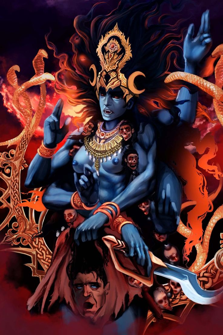 The Goddess Kali by *Clearmirror-StillH2O on deviantART