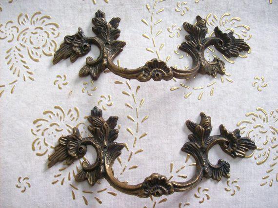 Mobili vintage Italia antica maniglia in ottone antico in alta