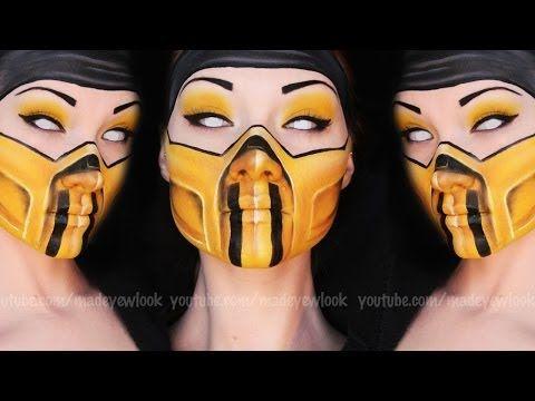 ▶ Scorpion Makeup Tutorial (Mortal Kombat) - YouTube