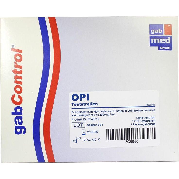 DROGENTEST Opiate 2.000 ng-ml Teststreifen:   Packungsinhalt: 1 St Teststreifen PZN: 03026980 Hersteller: gabmed GmbH Preis: 3,28 EUR…