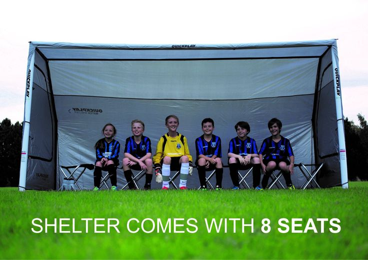 Quickplay Portable Sideline All Weather Sports Shelter and Bench