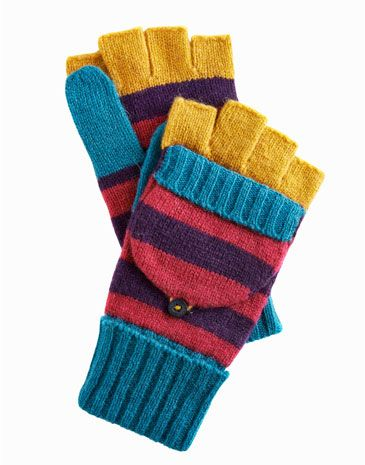 Joules null Womens Knitted Glove, Dark Violet.                     Don't keep your fingers hidden away all day. These soft, wool-rich fingerless gloves with a button back mitten top are perfect when the temperature dips.