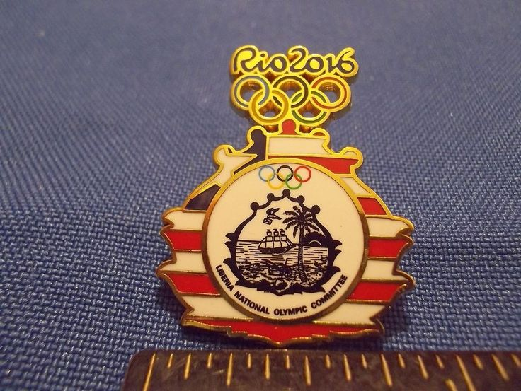 2016 Rio Olympic NOC Pin Liberia Dated