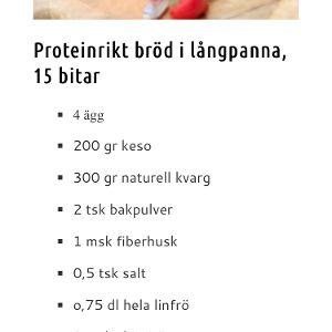 Proteinrikt bröd