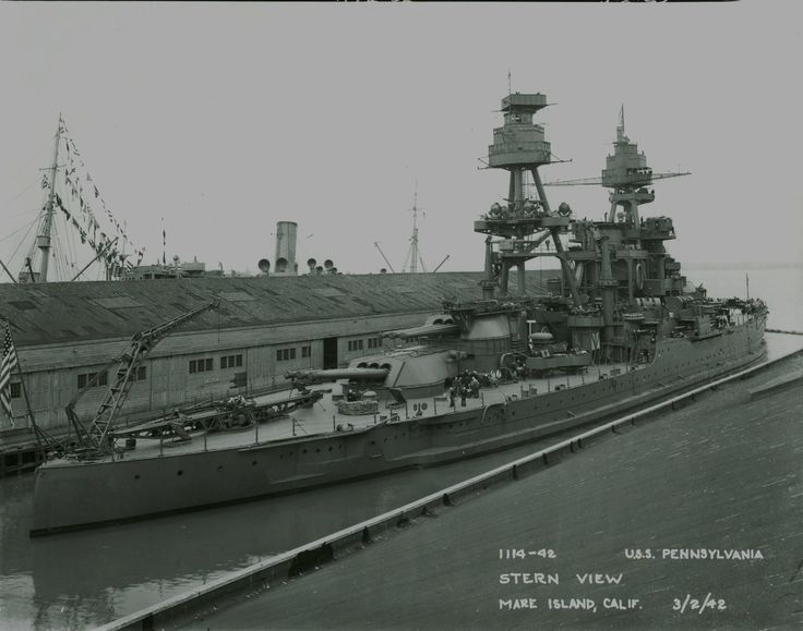 USS Pennsylvania, 1942. My Uncle Joel was aboard her as a Gunner's Mate.