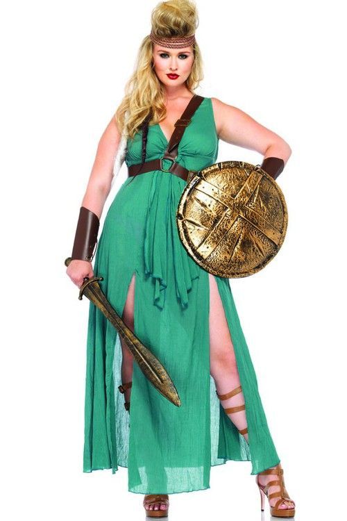 Plus 4PC.Warrior Maiden Costume,sexy plus size costumes, plus size halloween costumes, plus size pirate costume, plus size costumes, plus size costumes women,plus size halloween costumes, plus size costumes, plus size costume patterns, plus size cat costu ✿. ✿