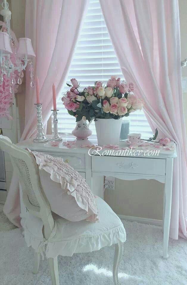 Escritorio blanco rom ntico decoraci n pinterest escritorios blancos escritorios y blanco - Decoracion shabby chic romantico ...