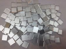 "SILVER 100+   Hand Cut Mosaic Glass Tile   Size 1/2"" square"