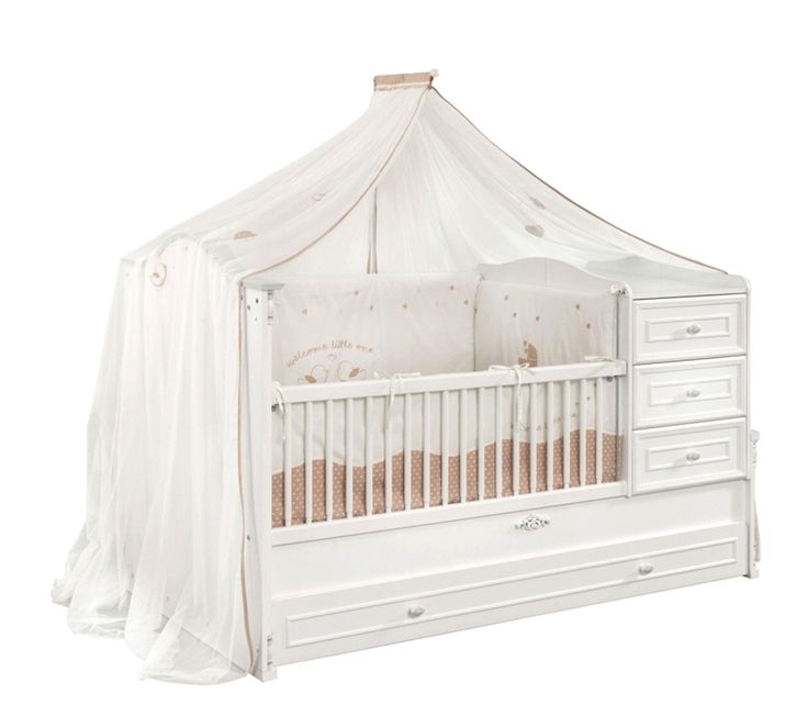 Babybett 4 tlg. Babyromantic mit Bettschubkasten günstig kaufen   smartvie