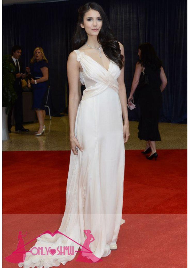 2015-Nina-Dobrev-Red-Carpet-Long-Celebrity-Prom-Dresses ...