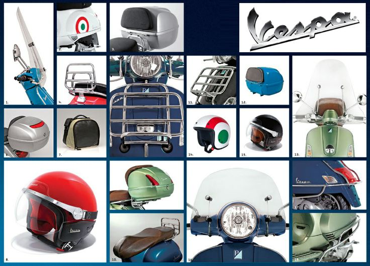 Vespa Accessories - Click to view larger