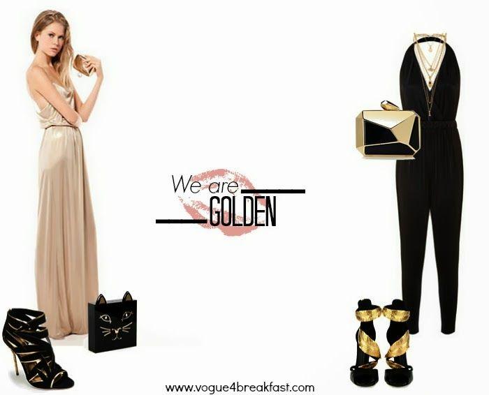 Accessori su abito nero e oro – Abiti alla moda 00a6fcd8105