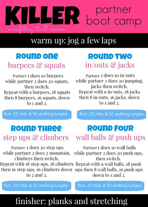 18 partner workouts to spice up your fitness routine