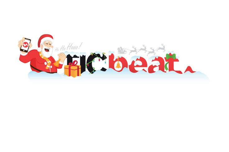 Ticbeat.com logo version for Christmas