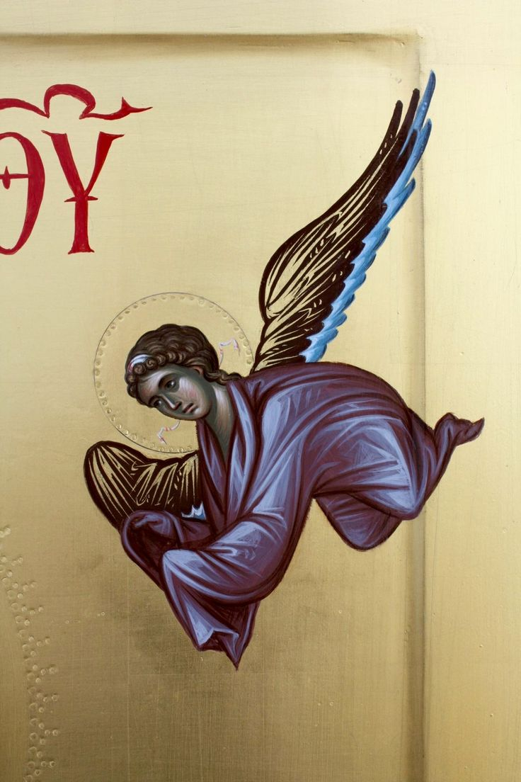Angel in a Theotokos icon