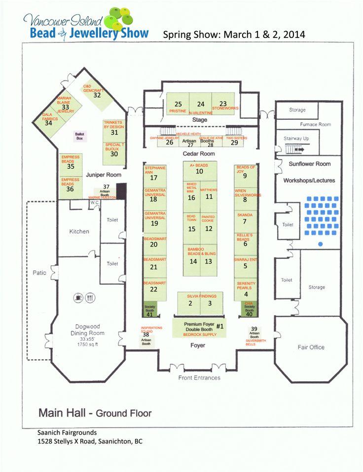 Vancouver Island Bead & Jewellery Show Floor Plan