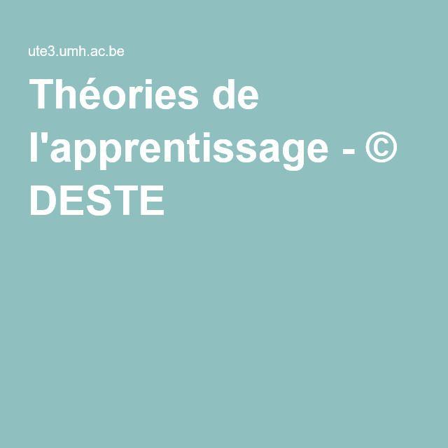 Théories de l'apprentissage - © DESTE