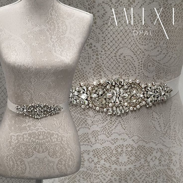 29 best bridal belts by amixi images on pinterest bridal for Add sparkle to wedding dress