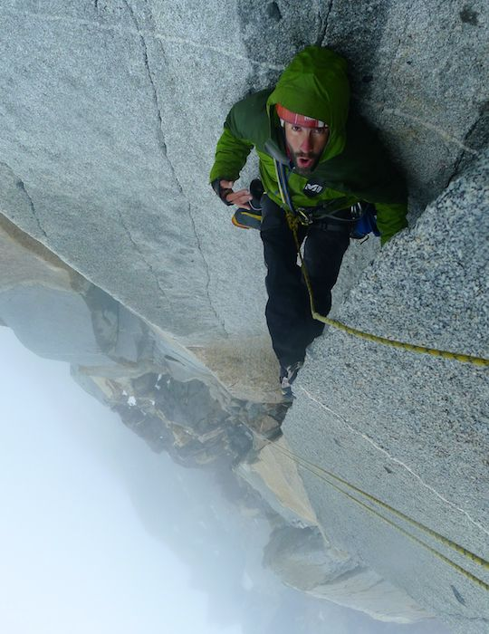 Steep climbing and Patagonian weather on Pilar del Sol Naciente. [Photo] Jerome Sullivan