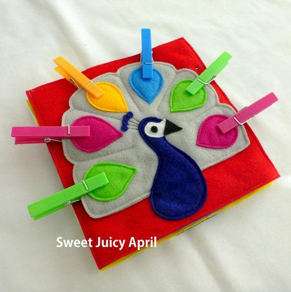 Página de libro tranquila de pinza para la ropa por SweetJuicyApril