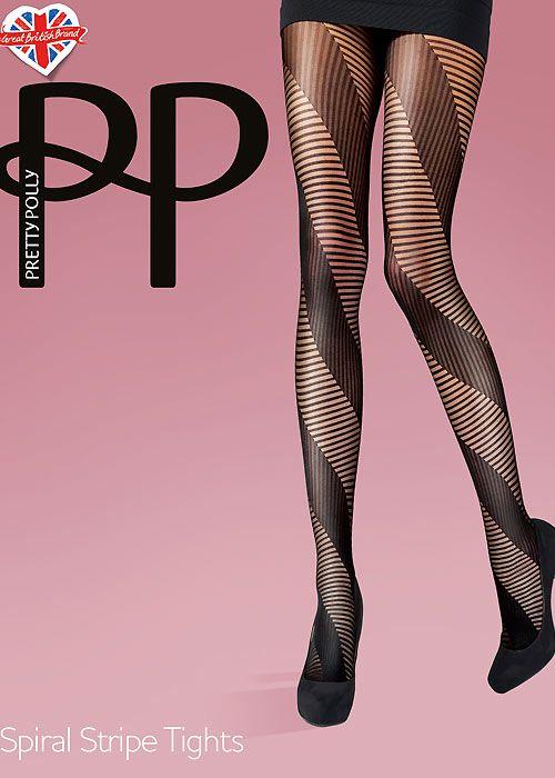 Pretty Polly Spiral Stripe Tights Mantyhose Çorap