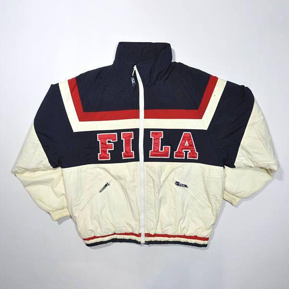 Vintage FILA 90s Puffer Jacket / FILA Italia / FILA Big Logo / Fila Windbreaker / Fila Winter Coat / Streetwear Jacket / Old school Jacket