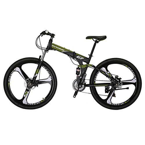 Eurobike G7 Mountain Bike 21 Speed Steel Frame 27 5 Inches K Wheels Dual Suspension Folding B Folding Bike Bike Dual Suspension Mountain Bike